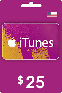 Apple iTunes Gift Card 25 USD USA