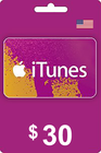 Apple iTunes Gift Card 30 USD USA